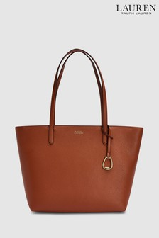 Polo Ralph Lauren® Tan Orange Vegan Leather Tote Bag