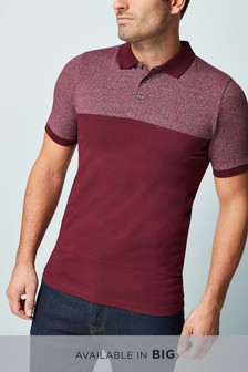 Muscle Fit Block Polo
