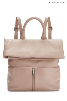 Mint Velvet Pink Alex Zip Backpack