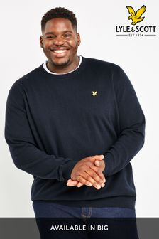 Lyle & Scott Plus Crew Neck Cotton Merino Jumper