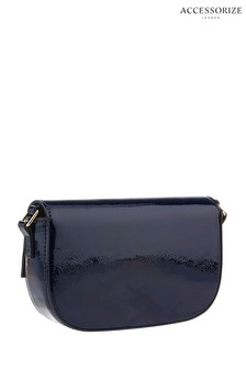 Accessorize Blue FF Patent Sally Bag