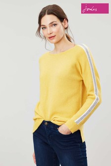 Joules Yellow Giovanna Crew Neck Jumper