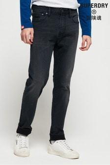 Superdry - Smalle jeans met zwarte wassing