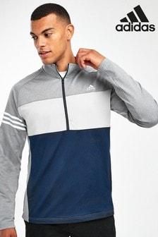 Топ с воротом на молнии и цветными вставками adidas Golf