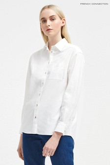 French Connection White Cotton Shirt