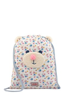 Cath Kidston® White Mini Primrose Spray Bear Drawstring Bag