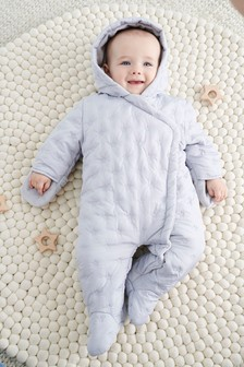 Star Embroidered Pramsuit (0mths-2yrs)