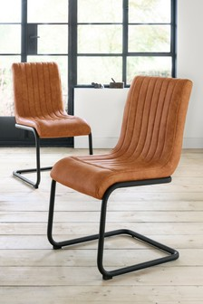Set Of 2 Bernie Lucca Dining Chairs