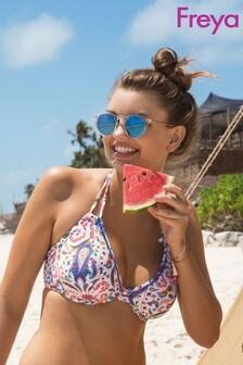 Freya Paisley Underwire Halter Bikini Top