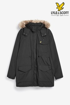 Lyle & Scott Plus Black Parka