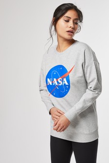 Sweat-shirt à inscription « NASA »