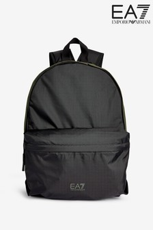 EA7 Black Green Backpack
