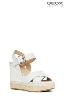 Białe sandały Geox D Yulimar