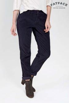 Pantalon fuselé côtelé FatFace bleu