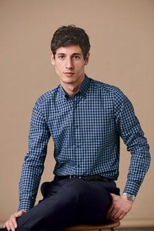 חולצת משבצות בגזרת סלים