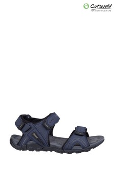 Cotswold Blue Rodmarton Touch Fasten Walking Sandals