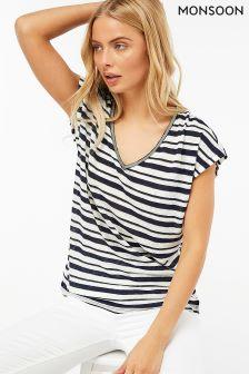 Monsoon Cream Libby Linen T-Shirt