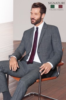 Skinny Fit Marzotto Signature Check Suit