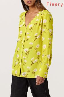 Finery Lime Hinoki Floral Print Blouse