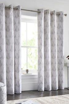 Diamond Fans Eyelet Curtains