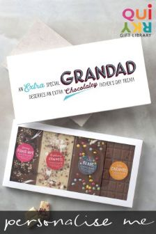 Personalised Fathers Day 4 Bar Chocolate Card By Quirky Gift Library