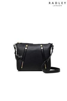 Radley London Black Fountain Road Small Zip Top Across Body Bag