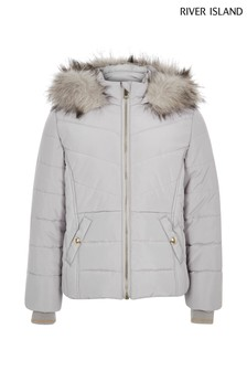 River Island Grey Padded Coat