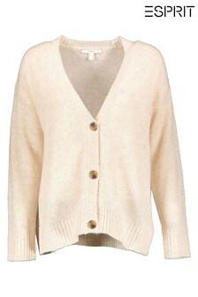 Esprit Cream Buttoned Cardigan