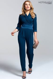 HotSquash Woodland Teal Long Sleeved Jumpsuit
