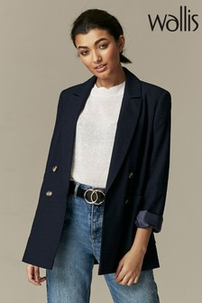Wallis Blue Patch Pocket Blazer