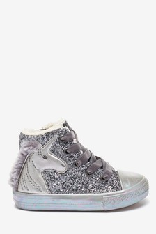 Unicorn High Top Trainers (Younger)