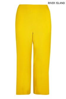 River Island Curve Yellow Trouser