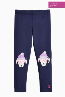 Joules Navy Wilde Novelty Knee Legging