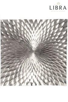 Libra Square Starburst Silver Wall Plaque