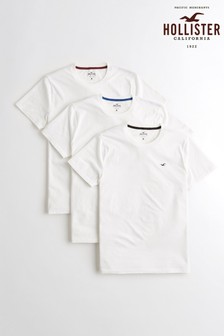 Hollister White T-Shirt Three Pack