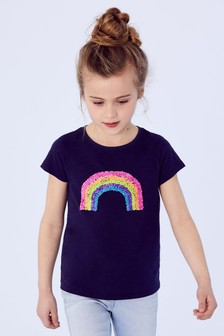 Sequin Rainbow T-Shirt (3-16yrs)