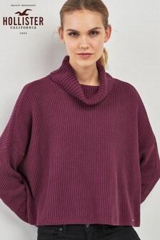 Hollister Burgundy Turtle Neck Sweater