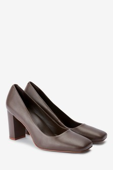 Signature Square Toe Court Shoes