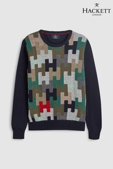 Hackett Kids Multi Crew Neck Jumper