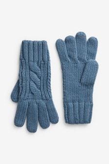 Rękawiczki we wzór warkoczowy