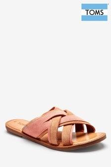 Koralowo-różowe zamszowe sandały TOMS Val