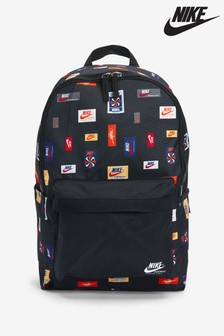 Nike Heritage 2.0 Black Logo Print Backpack