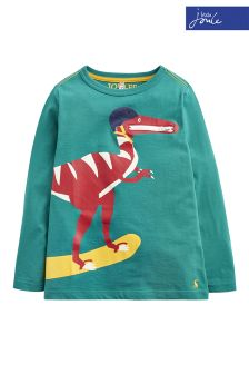 Joules Green Zipadee Appliqué T-Shirt