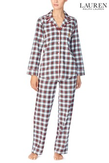 Lauren Ralph Lauren® Ivory Plaid Pyjama Set