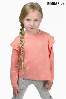 Kimba Kids by Kimberley Walsh Long Sleeve Spot Print Top