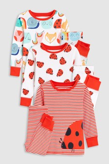 Ladybird Snuggle Pyjamas Three Pack (9mths-8yrs)