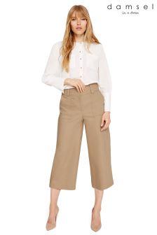 Damsel In A Dress Camel Leah Wide Leg Culotte Trousers