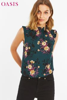 Oasis Green Frieda Floral Blouse