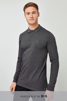 Long Sleeve Premium Oxford Polo