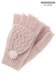 Monsoon Polly Pom Pom Capped Glove